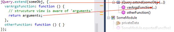 ReSharper 8.1 JavaScript File Structure Parameter Inference