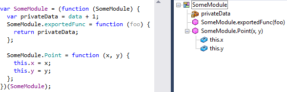 ReSharper 8.1 JavaScript File Structure Module Support