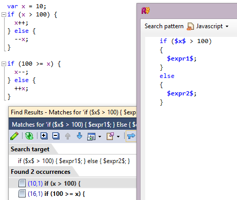 ReSharper 8.1 JavaScript Conditional Inversion Match