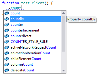 JavaScript completion without TypeScript information