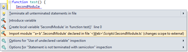 ReSharper 8.2 TypeScript Import Module