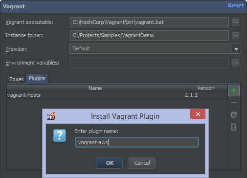 Manage Vagrant plugins through PhpStorm