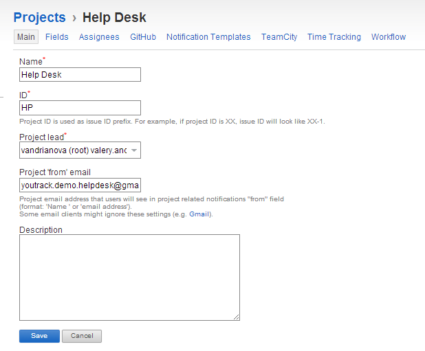 New Help Desk project