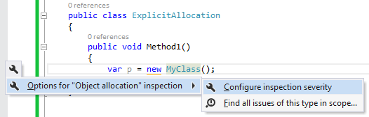 Configure severity and find all in scope
