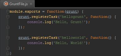 Editing GruntFile.js in PhpStorm
