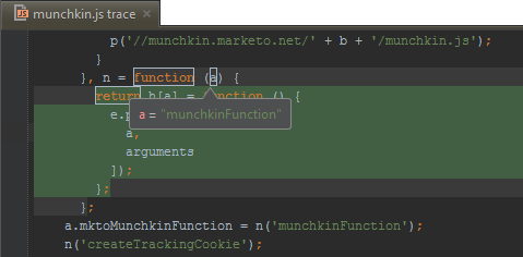 Inspect function trace