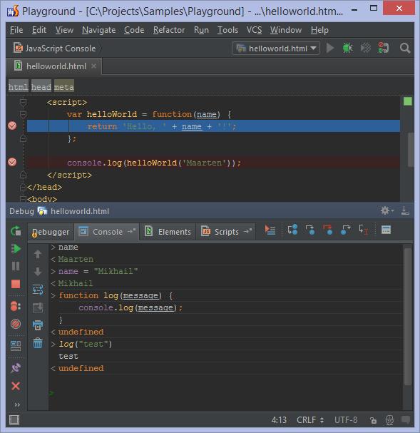 Live JavaScript console