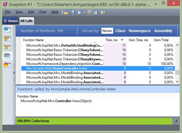 Profiling ASP.NET vNext in dotTrace