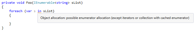 HAV plug-in warning about enumerator allocation