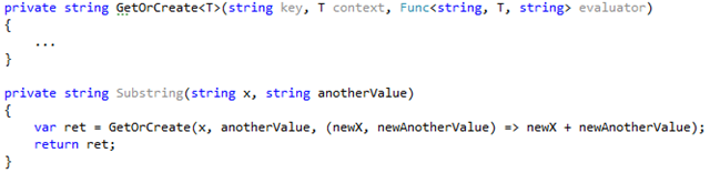 Code example of passing additional context to lambdas
