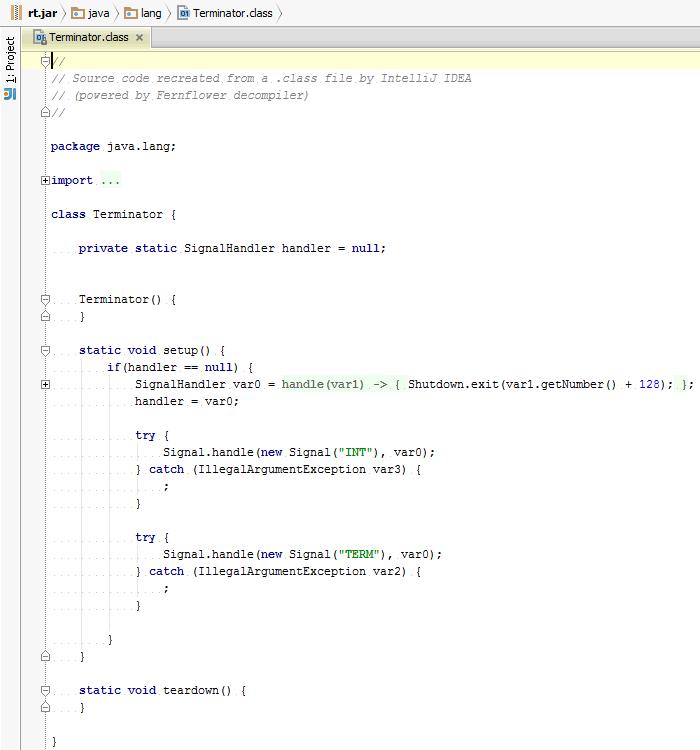 IntelliJ IDEA Java decompiler