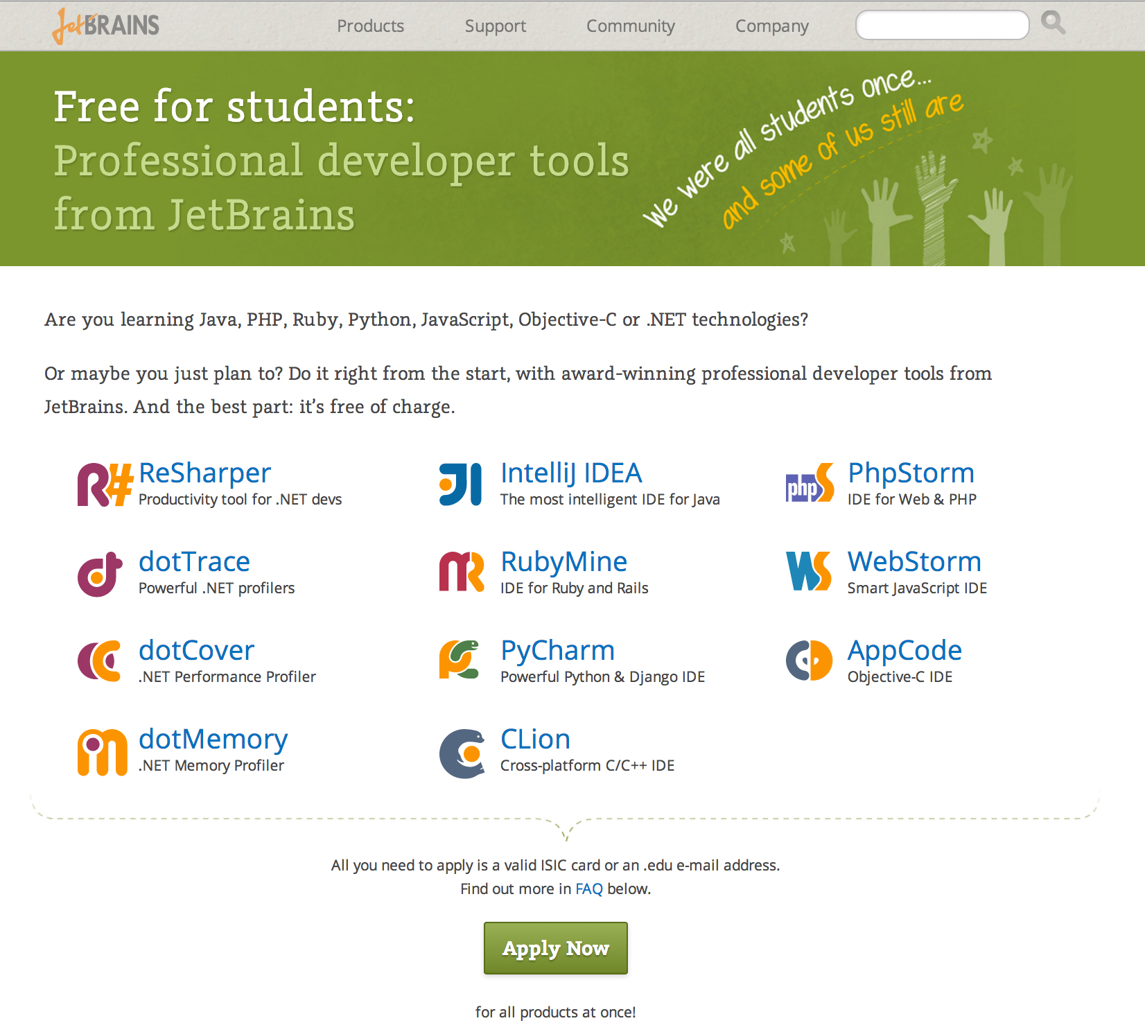 JetBrains Student License Program