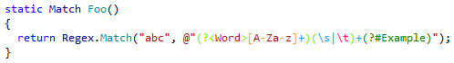Regular Expressions highlighting in ReSharper 9