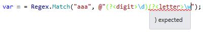 Missing Brackets highlighting in Regular Expression in ReSharper 9