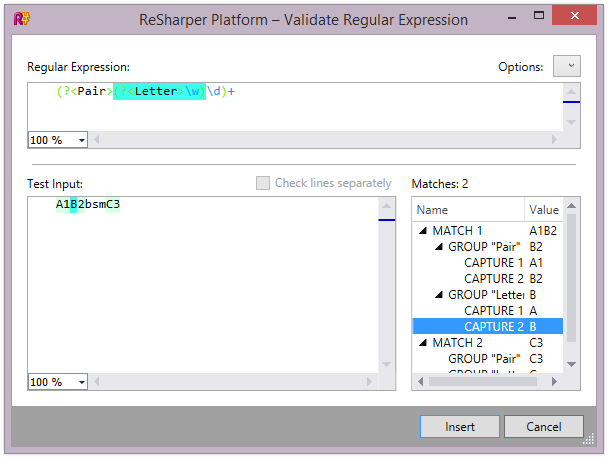 Regular Expressions validation utility in ReSharper 9