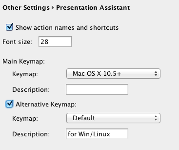 Configuration for Presentation Assist