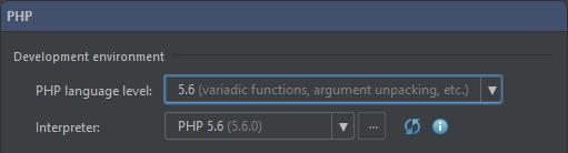 Pick PHP 5.6 language level