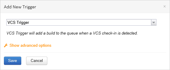 Automatically start TeamCity build when changes checked in to Visual Studio Online