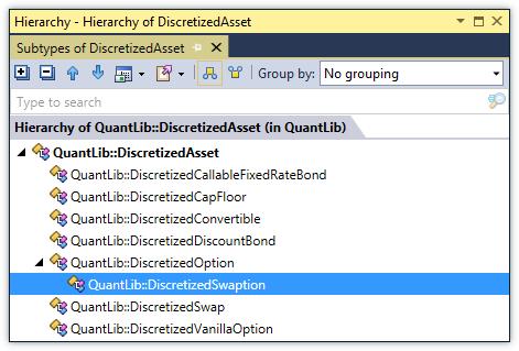 Type Hierarchy window in ReSharper C++