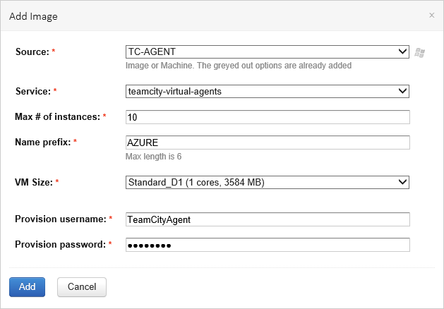 Run TeamCity agent in Azure