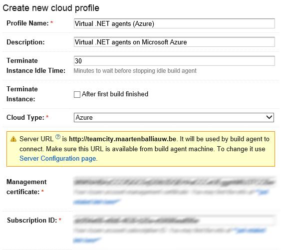 Create an Azure cloud profile
