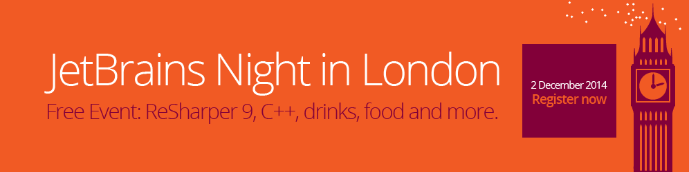 JetBrains Night in London, December 2nd