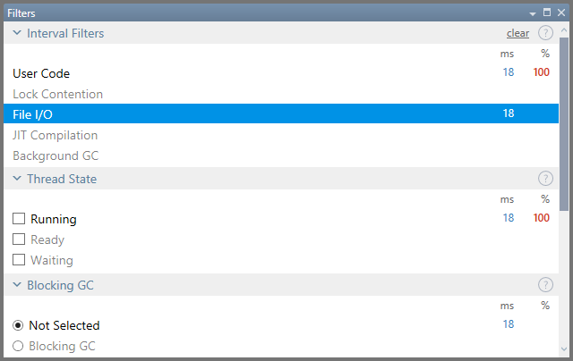 Filters tool window