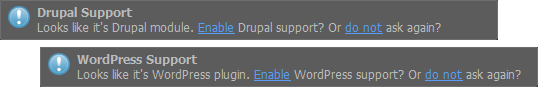 Drupal and WordPress support