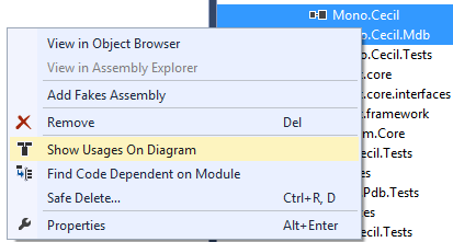 Show Usages on Diagram in ReSharper 9