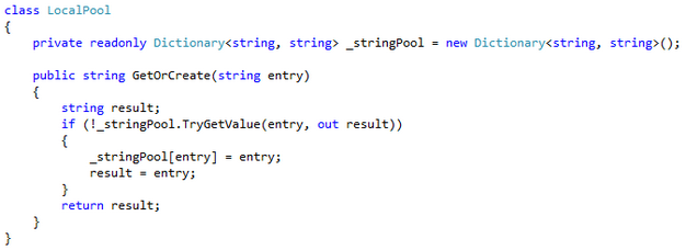 Local pool code example