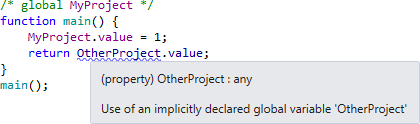 Support for annotations for global variables