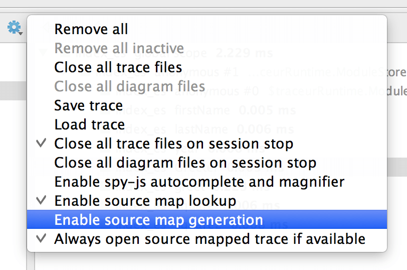 Source maps generation