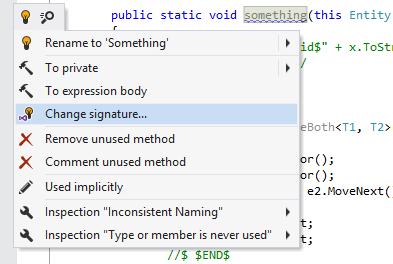 Visual Studio actions in ReSharper menu