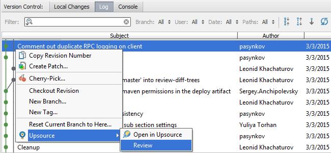 Upsource code review plug-in in IntelliJ IDEA