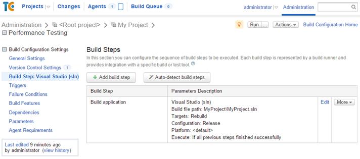 Creating build configuration