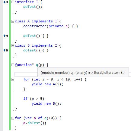 TypeScript 1.6 generators support in ReSharper 9.2