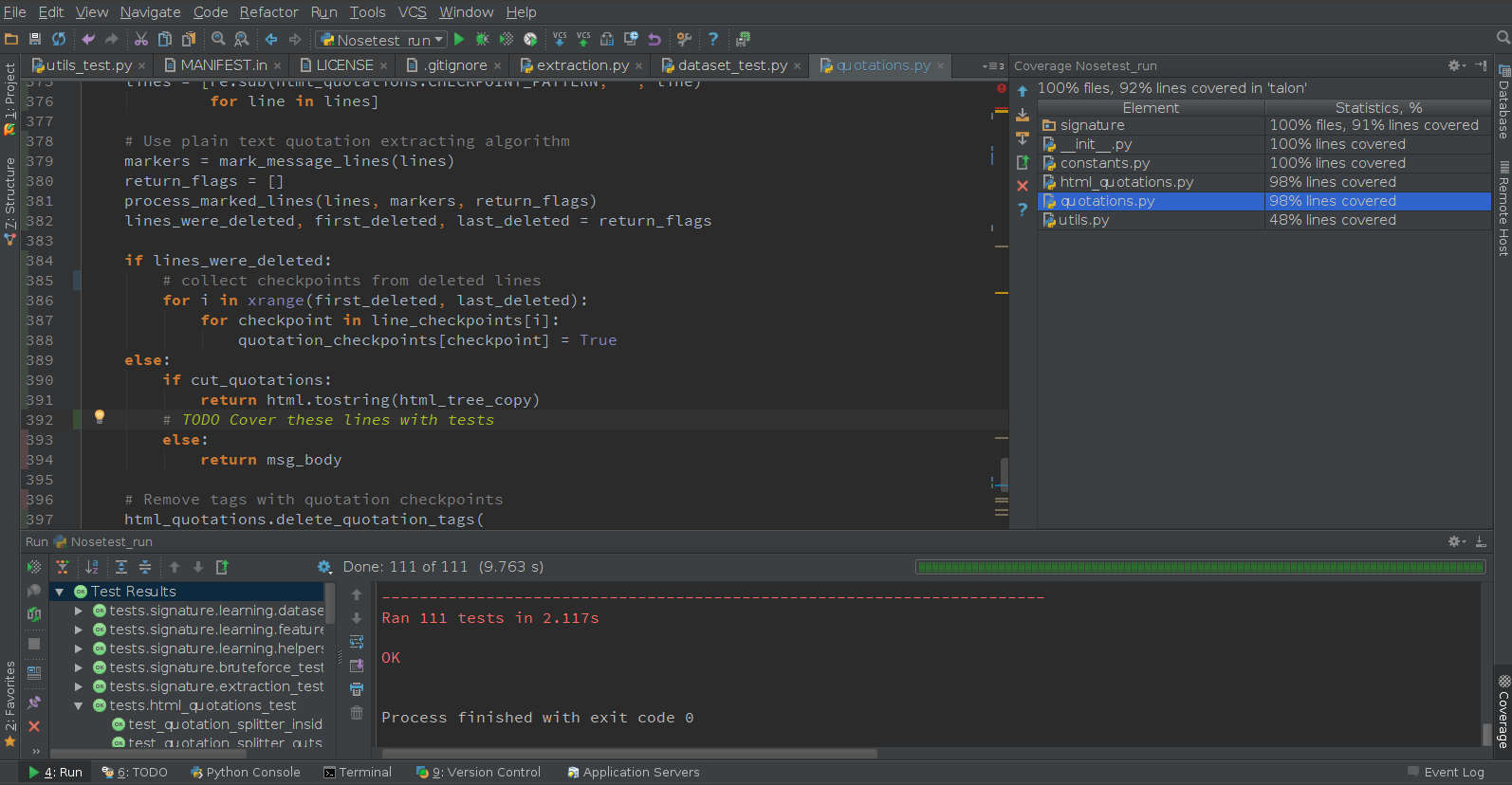 PyCharm full screenshot
