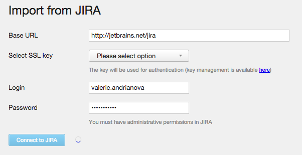 Jira import