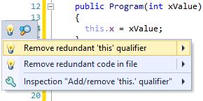 Quick-fix to remove this qualifier