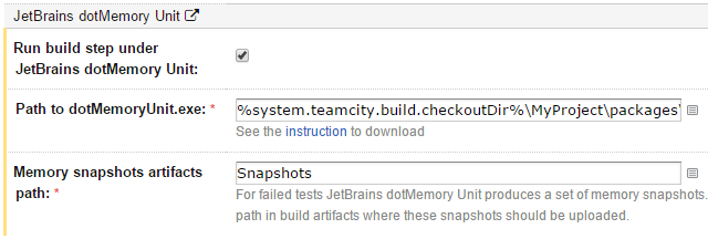dotMemory Unit support
