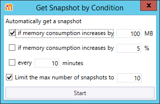 Get Snapshot by Condition window
