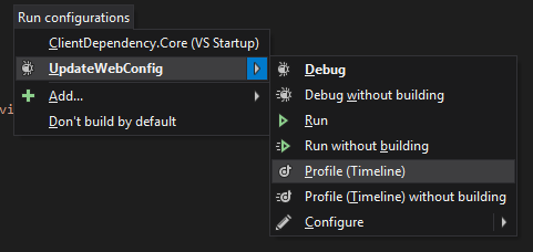 Profiling run configuration in ReSharper 9.2