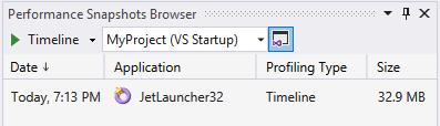 Snapshot browser in VS