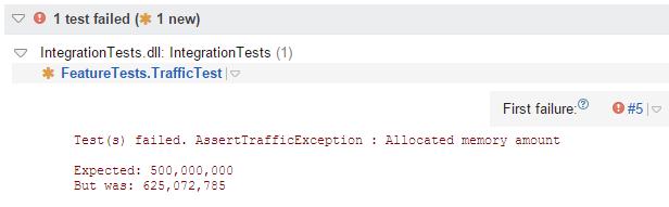 TeamCity test result