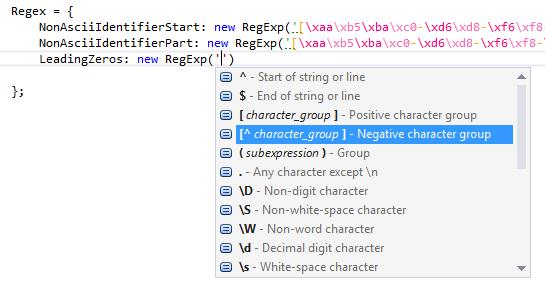 JavaScript regular expressions via RegExp objects