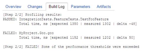 dotTrace Plugin Build Log