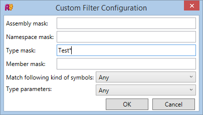 Custom completion filter configuration