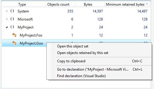 Go to declaration context menu