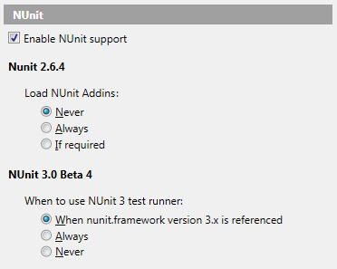 ReSharper starts to support NUnit 3.0