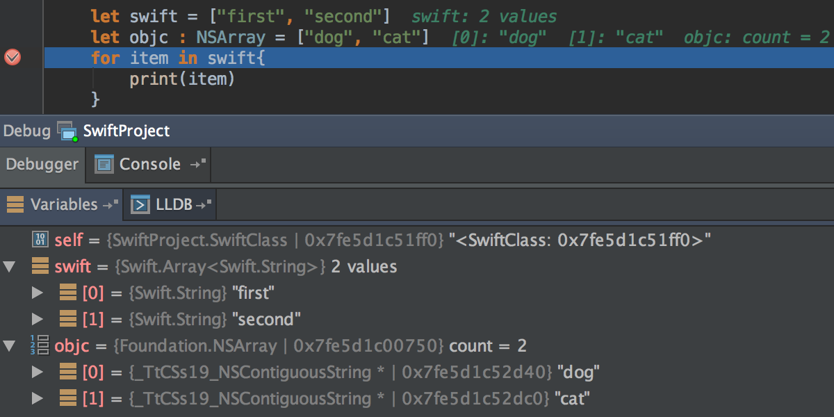 Swift debugger
